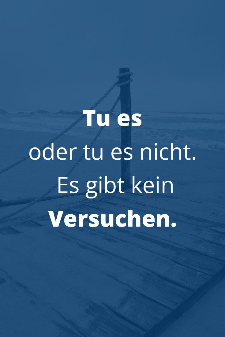 Tu es oder tu es nicht. Es gibt kein Versuchen.💪😎 👉🏻Klick