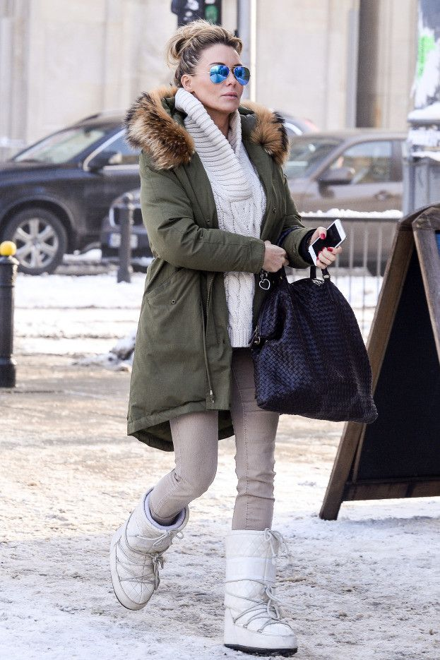 Moonboots Trendy Spring Outfits Winter Fashion