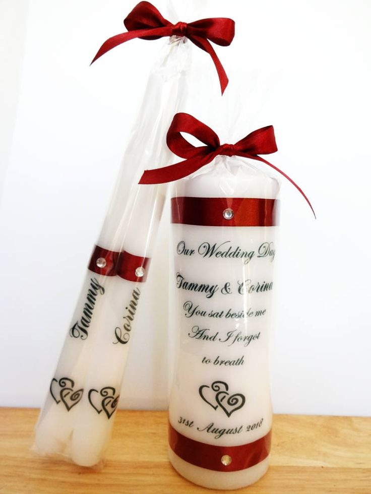 Burgundy Red Unity Candle