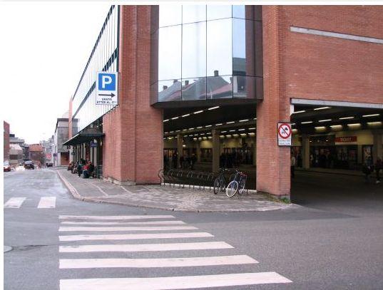 Bus stop in Fredrikstad, Norway. More photos: Fredrikstad pl