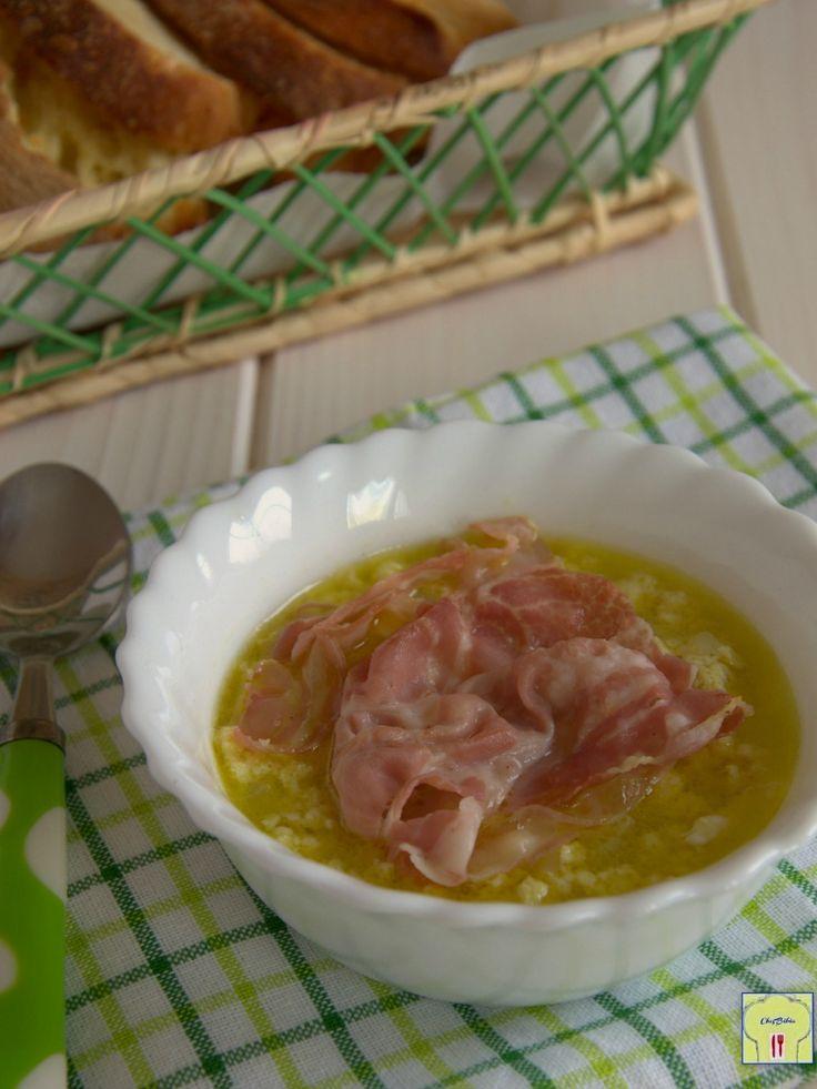 zuppa di uova e pancetta