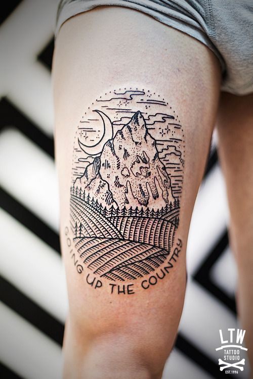 mountains tattoo <3