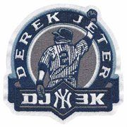 New York Yankees #2 Derek Jeter 3000 Hits Primary Logo Collectible Patch
