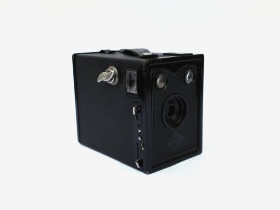 Vintage Agfa Box B2 camera 30s rare box camera by PetarsVintage, $59.80