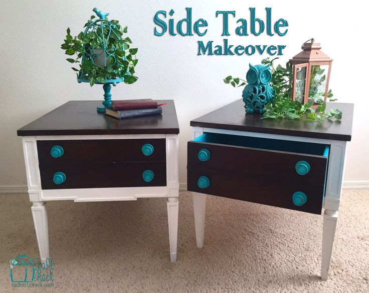 Side Tables - A Storage Auction Makeover