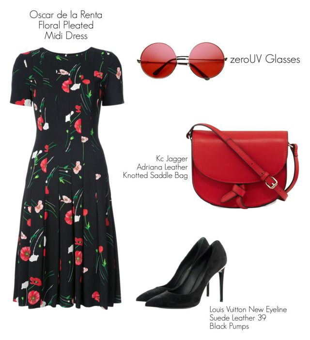 """Untitled #51"" by hfirlyana on Polyvore featuring Oscar de la Renta, ZeroUV, KC Jagger and Louis Vuitton"