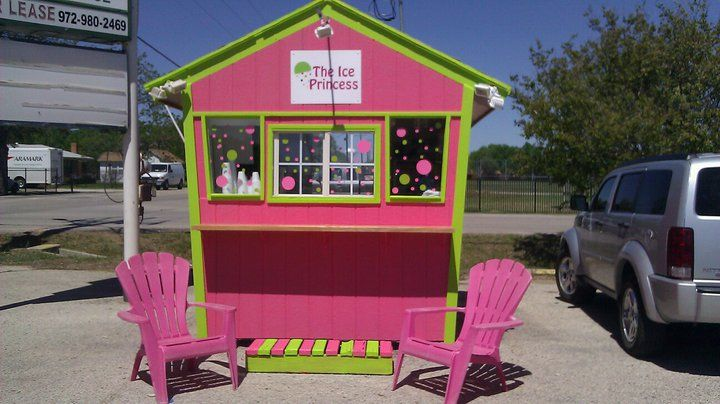This is my snow cone stand in Lake Dallas, TX 'The Ice Princess'. Facebook.com/LDIcePrincess
