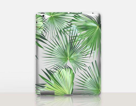 Palm Leaves Transparent iPad Case For  iPad 2 iPad 3 iPad 4