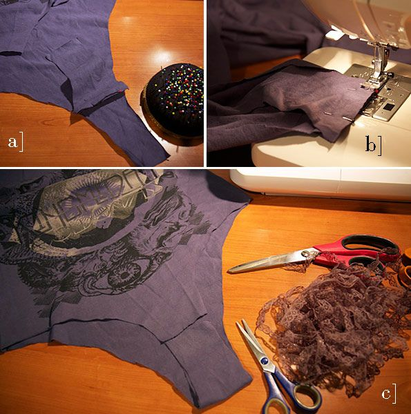 How to Make a Bodysuit From an Old T-Shirt