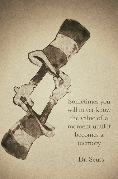 """""""Sometimes you will never know the value of a moment until it becomes a memory."""" ~ Dr. Seuss"""