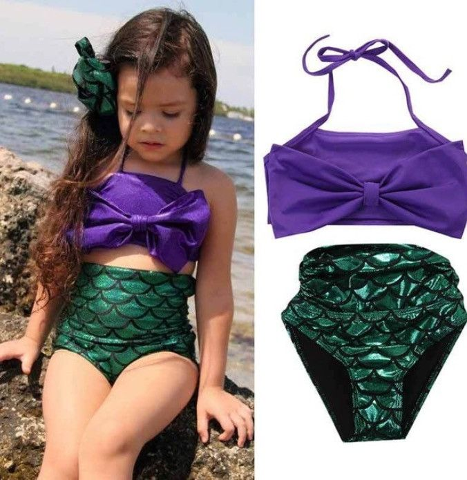 Little Mermaid 2 Piece Bathing Suit