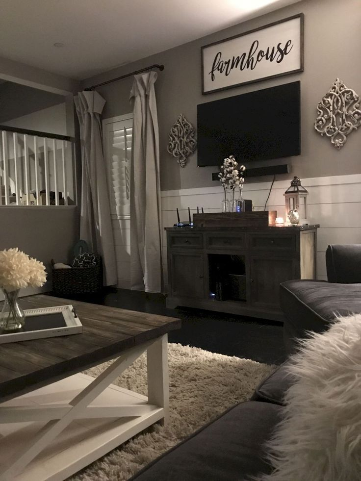 07 Cozy Modern Farmhouse Living Room Decor Ideas Farm House Living Room Living Room Design Decor Farmhouse Decor Living Room