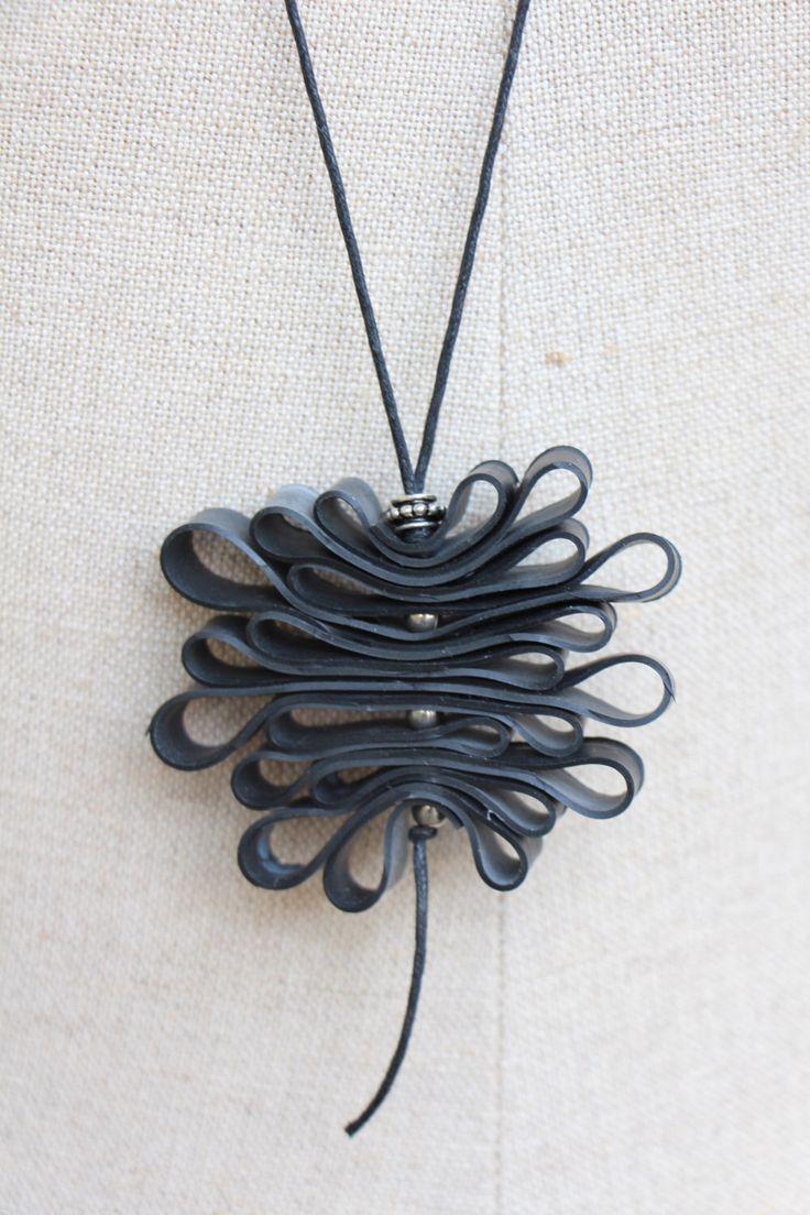 Innertube infinity necklace by CutAndPasteWorkshop on Etsy https://www.etsy.com/listing/179305491/innertube-infinity-necklace