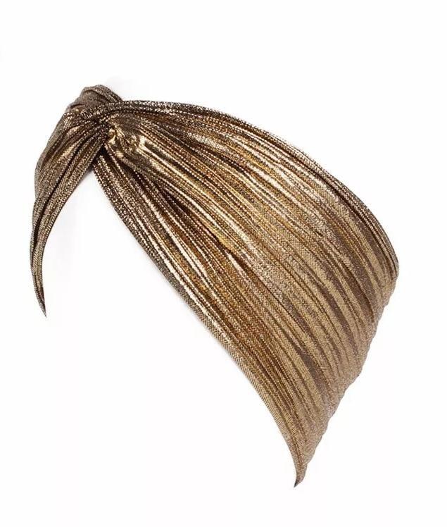 gold headband girls head wrap Gold Metallic headwrap