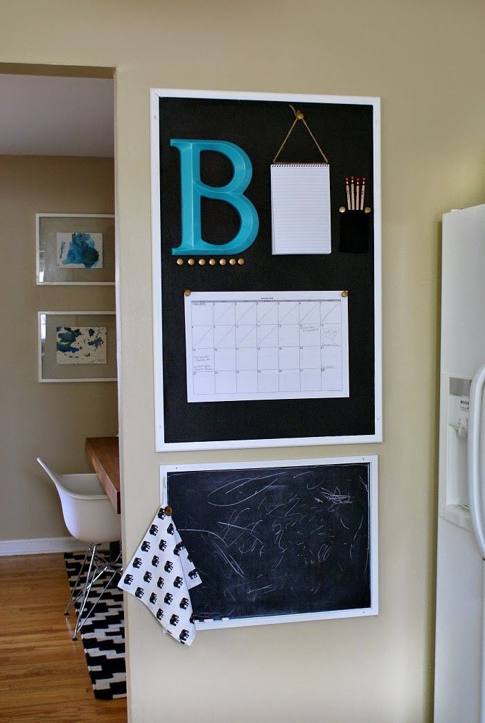 Getting Our Family Organized With A Kitchen Calendar. #organization # Corkboard #commandcenter