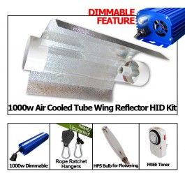 yield lab 1000w hps cool tube wing reflector grow light kit