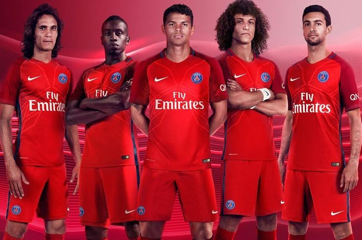 Away jersey 16-17 group shot of our Paris Saint-Germain players