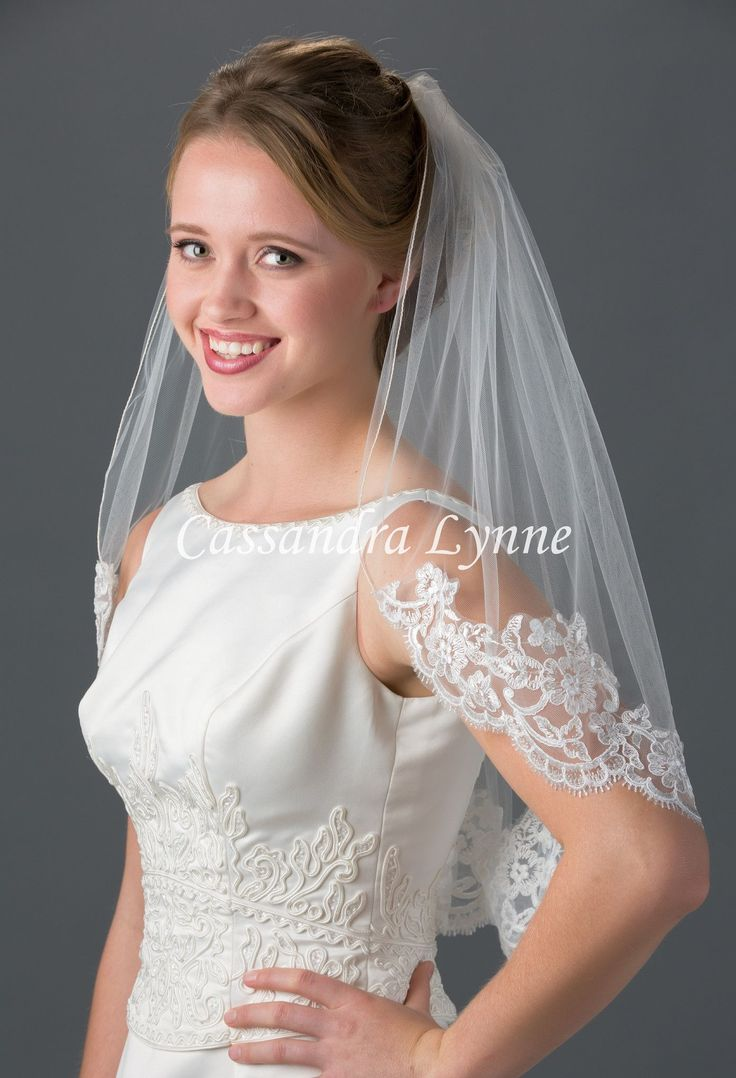 Best waist length bridal veils images on pinterest