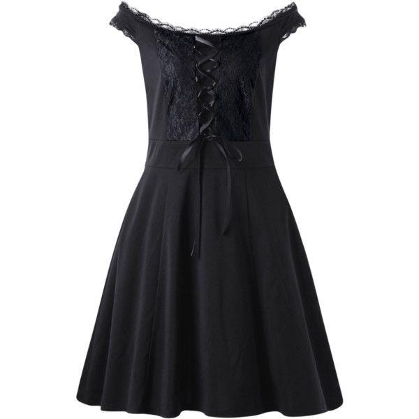 Lace Up Plus Size Mini Dress ($15) ❤ liked on Polyvore featuring dresses, mini dress, laced dress, lace up dress, womens plus dresses and plus size short dresses