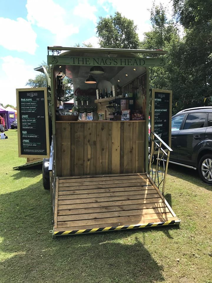 "Mobile Horse Box Bar ""The Nag's head"" coffee and alcohol bar. Hire this out for your event at www.lancashireprophire.com"