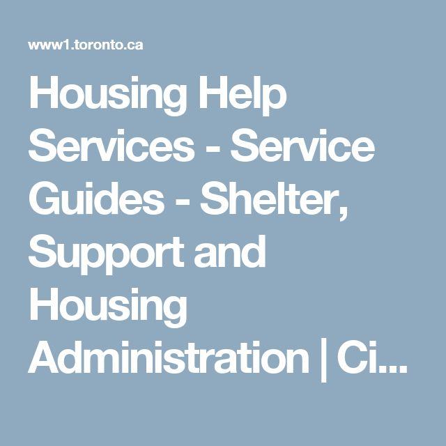 Housing Help Services - Service Guides - Shelter, Support and Housing Administration | City of Toronto