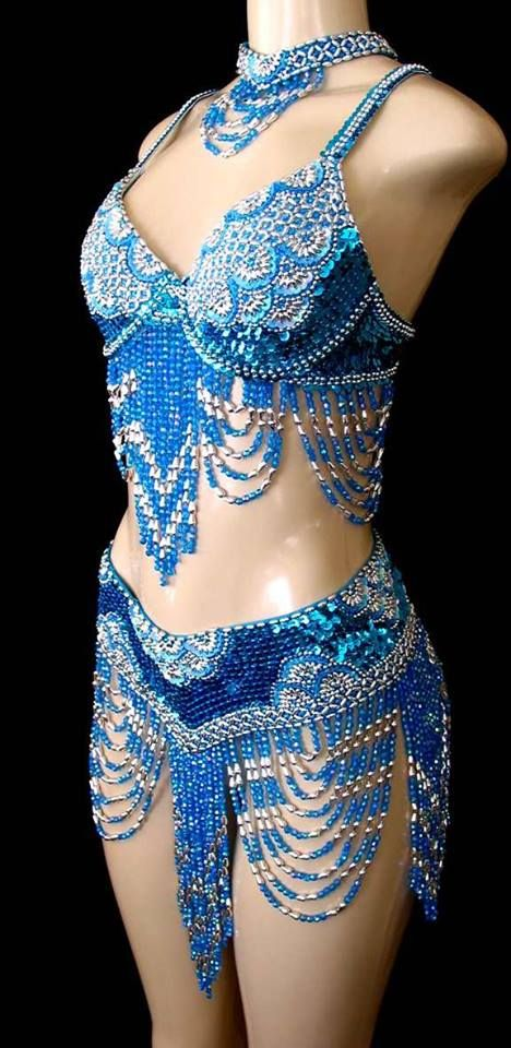 Beaded Belly Dance Costume