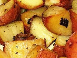 Roasted New Potatoes With Caramelized Onions And Truffle Oil Recipe ...
