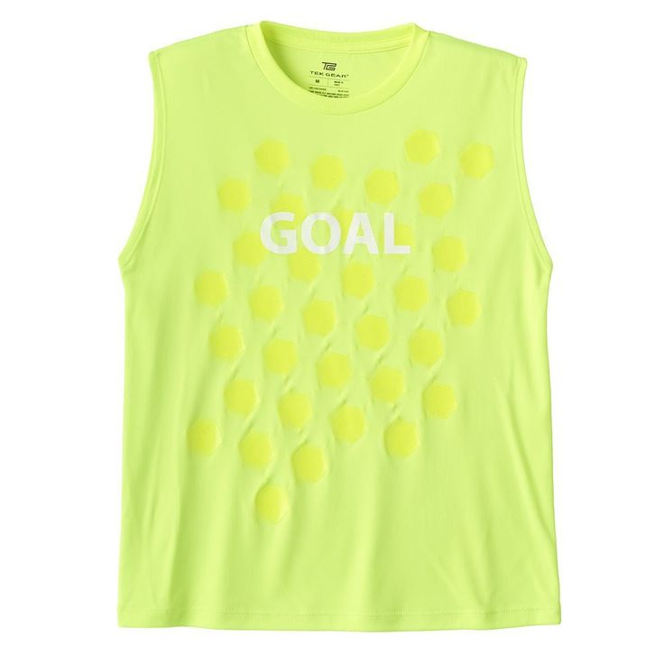 Boys 8-20 Tek Gear® Soccer Goal Muscle Tee, Size: Medium, Drk Yellow