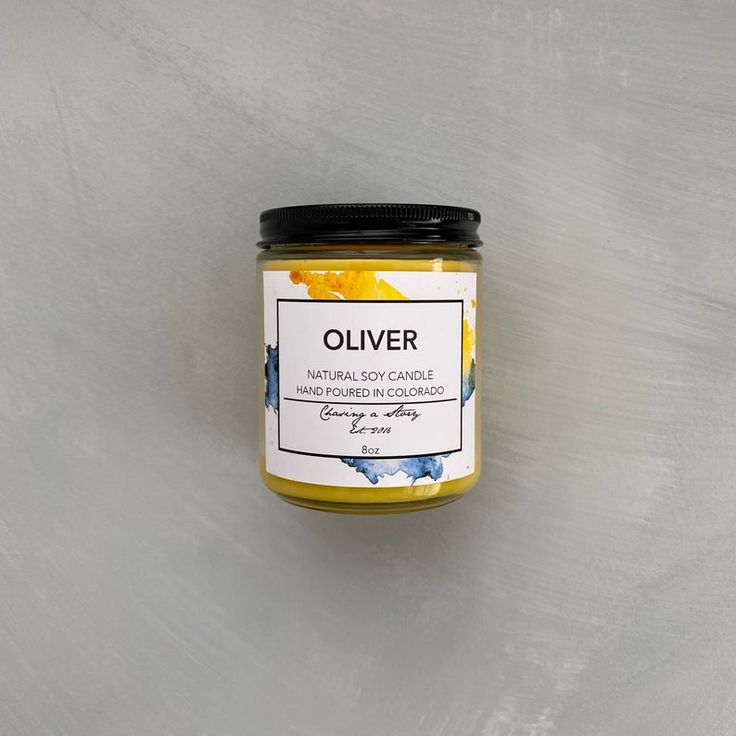 Oliver // 8oz Soy Candle Honeysuckle Summer Italy Call ...
