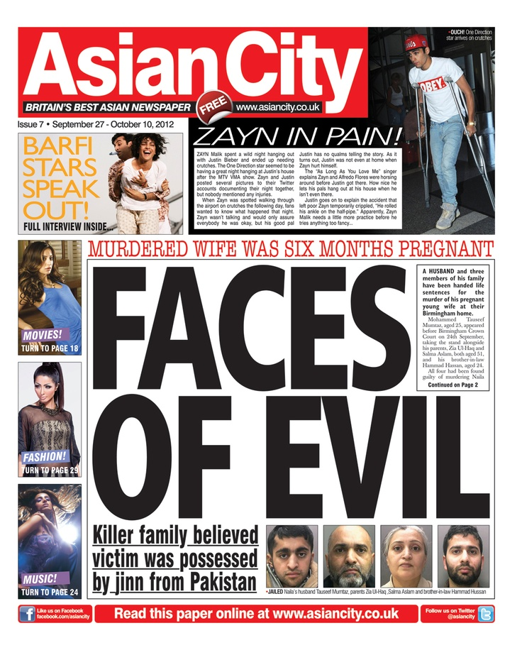 Asian City - Issue 7 #news #gossip #fashion #entertainment #music #sports #newspaper #tabloid #press #journalism #frontcover