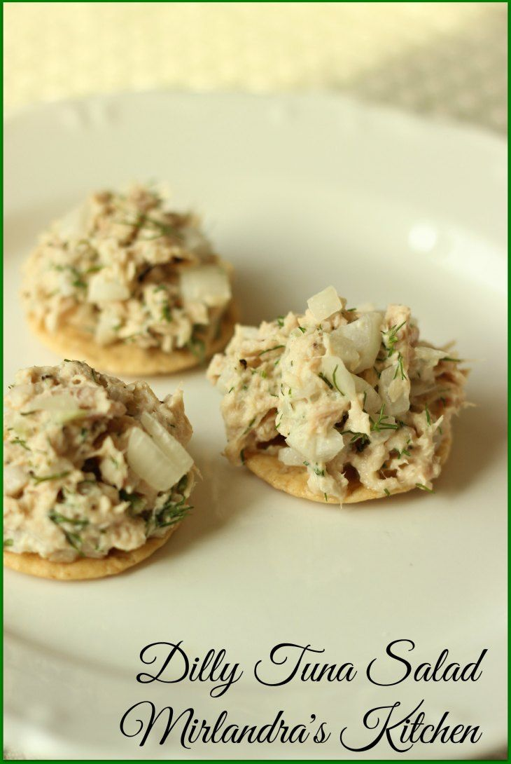 Healthy, delicious tuna salad seasoned with dill and green onion. This easy lunchtime solution is flavorful but not loaded with mayo.