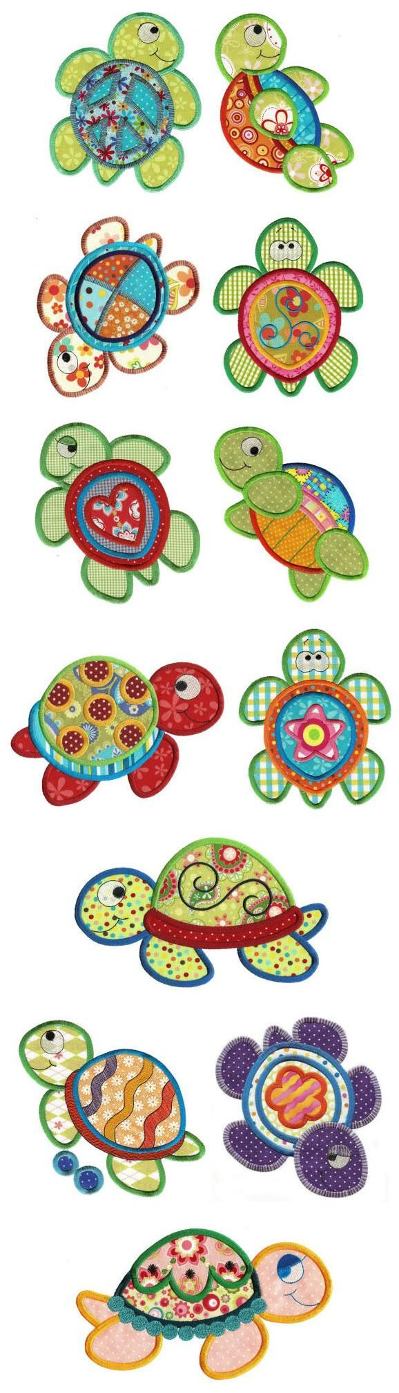 Sea Turtles Applique - Designs By JuJu | OregonPatchWorks