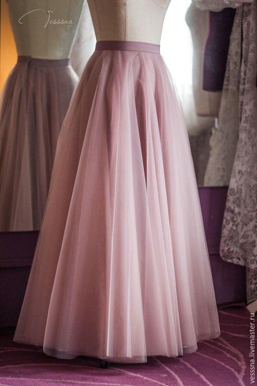 Купить Юбка из фатина Пудра - юбка из фатина, юбка из сетки, юбка пачка, пышная…