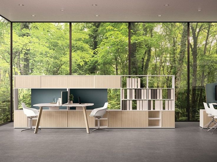 Tall modular wooden office storage unit USE ME | Tall office storage unit by Sinetica Industries