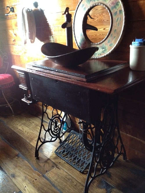 Sink From Treadle Machine Sewing Machines Pinterest