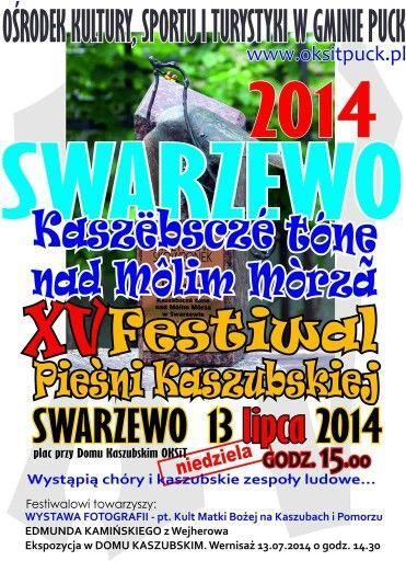 Najbliższy weekend upłynie nie tylko pod znakiem historycznych inscenizacji. #Swarzewo zaprasza w niedzielę na XV Festiwal Pieśni Kaszubskiej. To taka nasza regionalna wersja Openera ;). Będzie swojsko, będzie tabaka, będzie się działo. Polecamy!