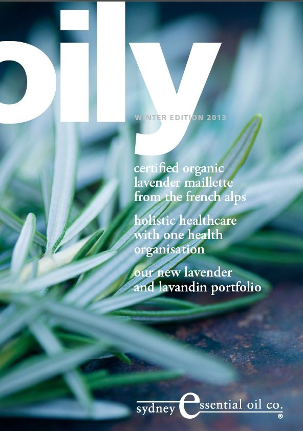 Winter 2013: Featuring - Organic French Lavender, Holistic Healthcare with One Health, Organisation and our Lavender and Lavandin Porfolio. Download from seoc.com.au