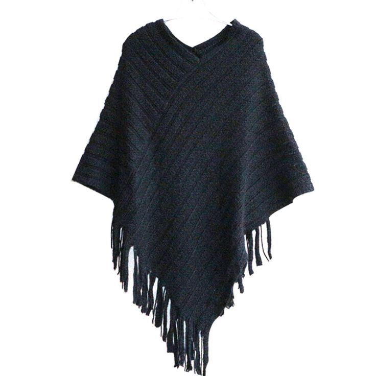 Autumn Clothes Shawl Scarf  Sweater Women Women Cardigan  Ladies Cape Coat Fringe Poncho Oblique Stripe Coat Bohemian