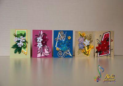 neli: Quilling small cards-/5 cm-7 cm/