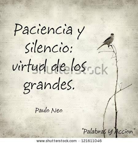 Paciencia y silencio: virtud de los grandes. #frases #citas