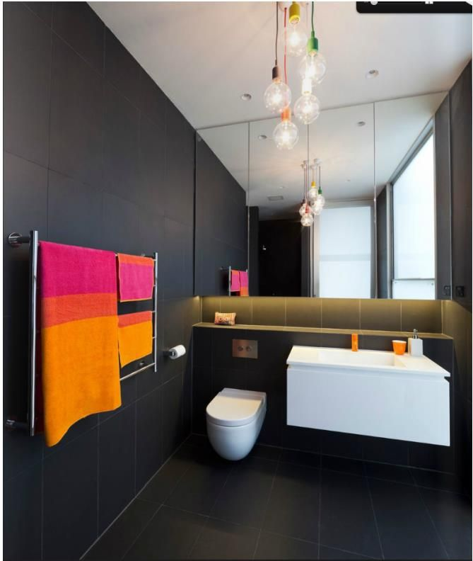 Best Black Bathrooms Images On Pinterest Room Architecture - Black towels for small bathroom ideas
