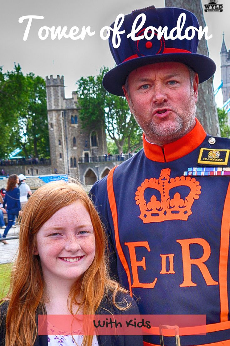 Tower of London with kids. Activities in London for families, London with kids, London attractions for kids. London historical sights