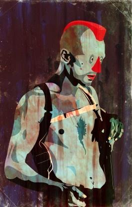 cool illustration #illustration punk rock clown