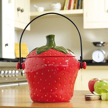 Strawberry Compost Crock   From Lakeland