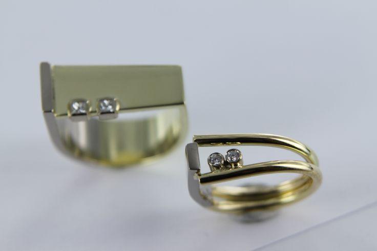 tweeling Broer en Zus samen 100 jaar. Daar past een paar mooie ringen bij, die dit symboliseren.