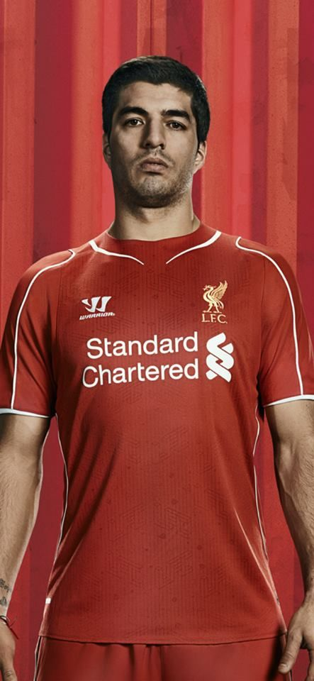 23e8dc575 ... Henderson revealed the 201415 Liverpool FC Liverpools recently released  Warrior home kit modeled by a thoroughly bored Luis Suarez.