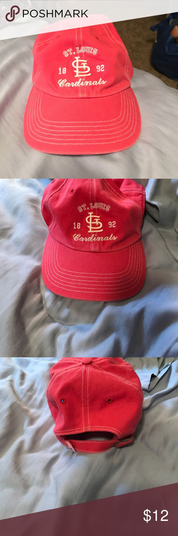 Pink stl cardinals hat SPORT GYM DEALS NOW Adjustable. Kinda pinkish coralish color. All reasonable offers are considered n a discount is given upon any bundle sold. Accessories Hats