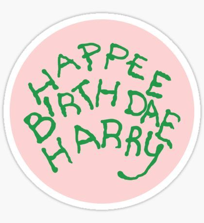 Happee Birthdae Harry - Circle Pegatina