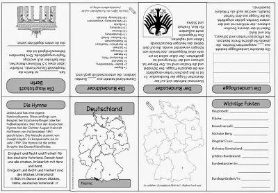 """Sachunterricht in der Grundschule: Faltheft """"Deutschland"""""""