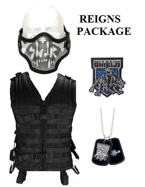 WWE The Shield Costume Tactical Vest Skull Mask Dog Tag Roman Reigns Replica in Sports Mem, Cards & Fan Shop, Fan Apparel & Souvenirs, Wrestling | eBay
